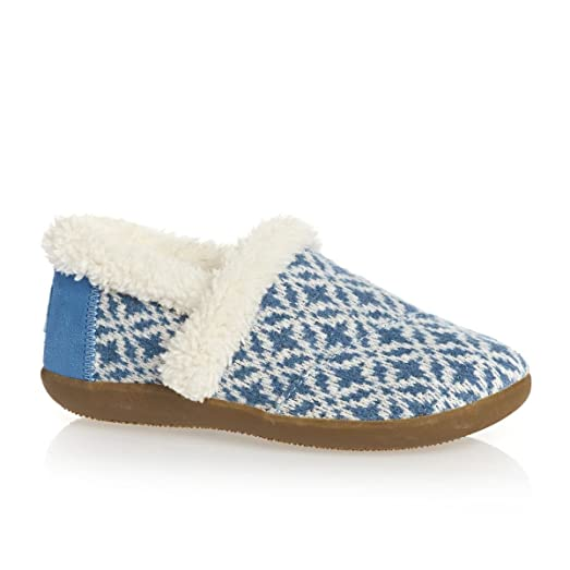 Amazon.com | Toms - Slippers - Blue Fair Isle - Youth Slippers (2 ...