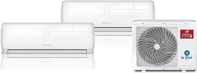 INFINITON Aire Acondicionado Multi-Split 2X1 (A++, 2 UNID Interior 2500 FRIGORIAS + 1 Exterior, WiFi, Inverter, Gas R32): 711.48: Amazon.es: Hogar
