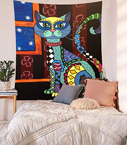 Sedef Yilmabasar Cats Artwork Paintings Wall Hanging Cats