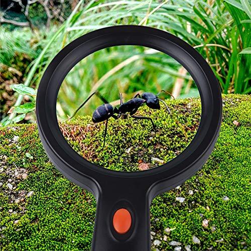 5X LED Magnifying Glass with 12 LED Lights, Sukuos Handheld