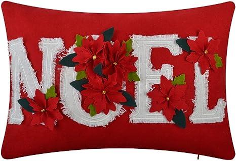 Linen Cushion Cover Xmas Festival Decor Livingroom Bedroom Car Sofa Pillow Case
