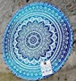 HANDICRAFTOFPINCITY Hippie Indian Peacock Mandala Round Roundie Towel Throw Tapestry Beach Yoga Mat by HANDICRAFTOFPINKCITY
