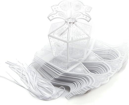 20 cajas de regalo de plástico PVC transparente para boda, para ...