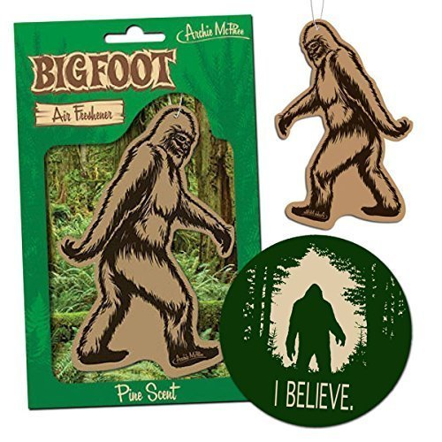 DUMBestic Bigfoot Air Freshener & I Believe Sticker Decal - for Car RV Trailer Tent - Best Gift for Bigfoot Lover!