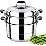 Royalford Multipurpose Double Layer Steamer Pot, RF5014, Silver, 30 cm/9 Litres