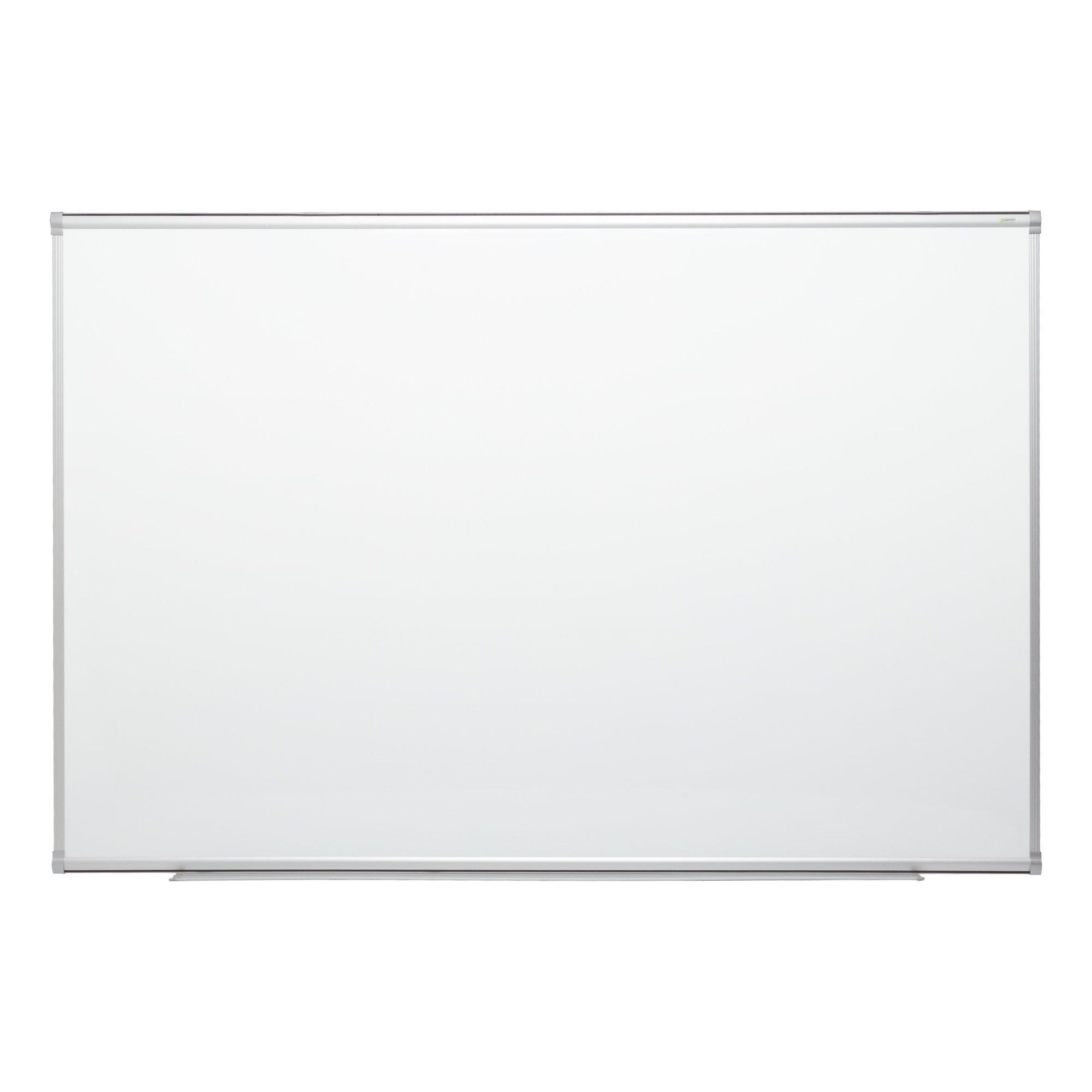 Learniture 4'x10' Porcelain Steel Magnetic Dry Erase Board w/Aluminum Frame & Map Rail 829-SO