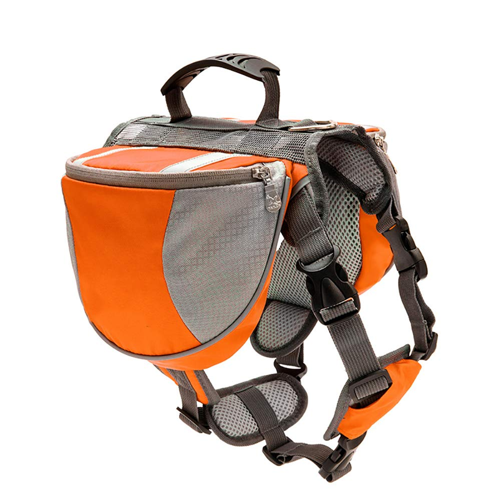orange Medium orange Medium Dog Saddle Bag Harness,Pet Travel Backpack Reflective Strip Design is Safer Breathable mesh Cloth Does not Stain Suitable for pet Travel Camping