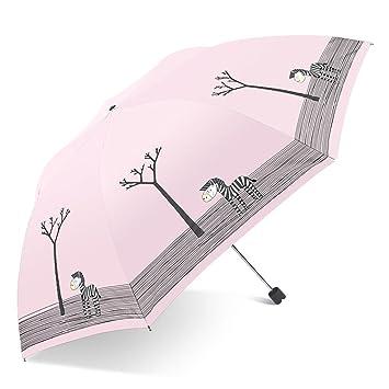 LXY Paraguas de Sol Lindo de la protección del Sol del Paraguas del Vinilo de la Historieta Fresca de Uso Dual pequeño Paraguas (Color : Azul): Amazon.es: ...