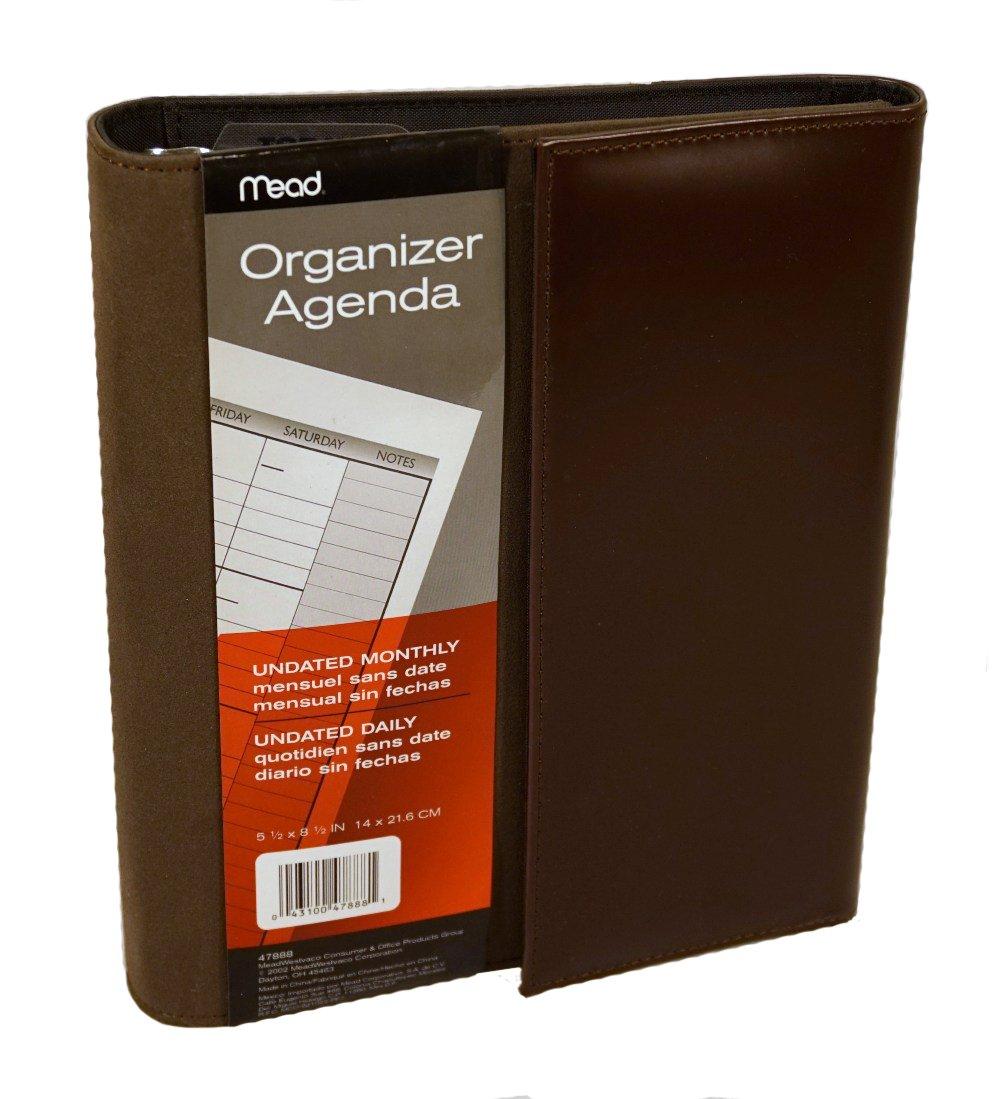 Amazon.com : Mead Organizer Agenda Brown : Personal ...