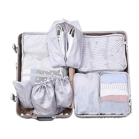 Bolsa de viaje Conjunto de 8 piezas Organizador de equipaje ...