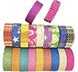 Da.Wa Shining Golden Edge Adhesive Tape 20 Rolls(Pure Color And Pattern Two Type Each 10)