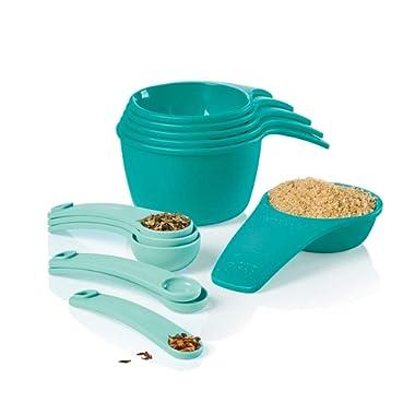 Tupperware Measuring Cup & Spoon Set Newest Design Teal