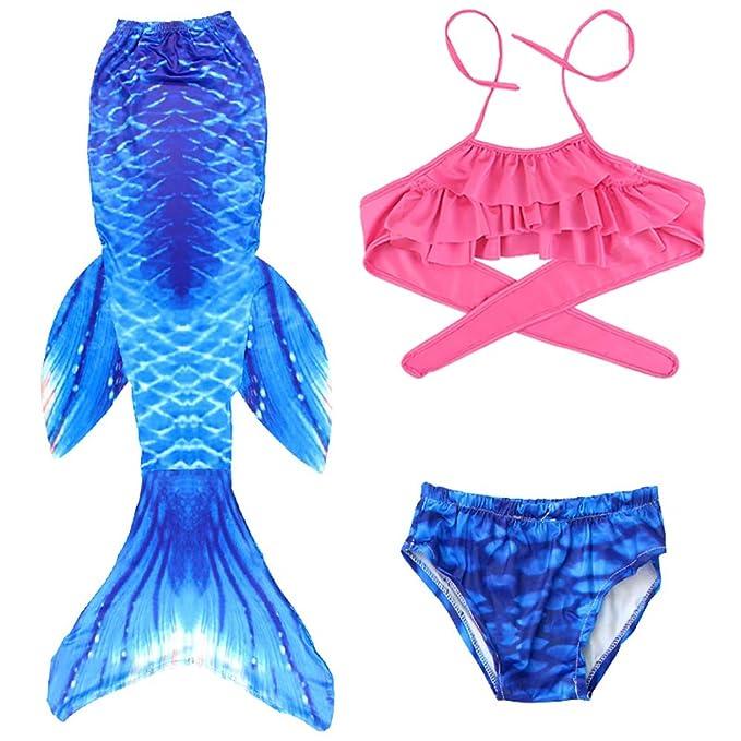 Traje de Baño Sirena de Las Muchachas Bikini Set, Traje de ...