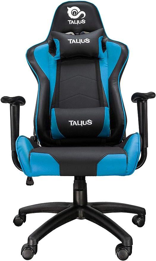 Talius Silla Gecko v2 Gaming, Brazos fijos, Butterfly, Base Nylon, Ruedas Nylon, Gas Clase 4 (Blue)
