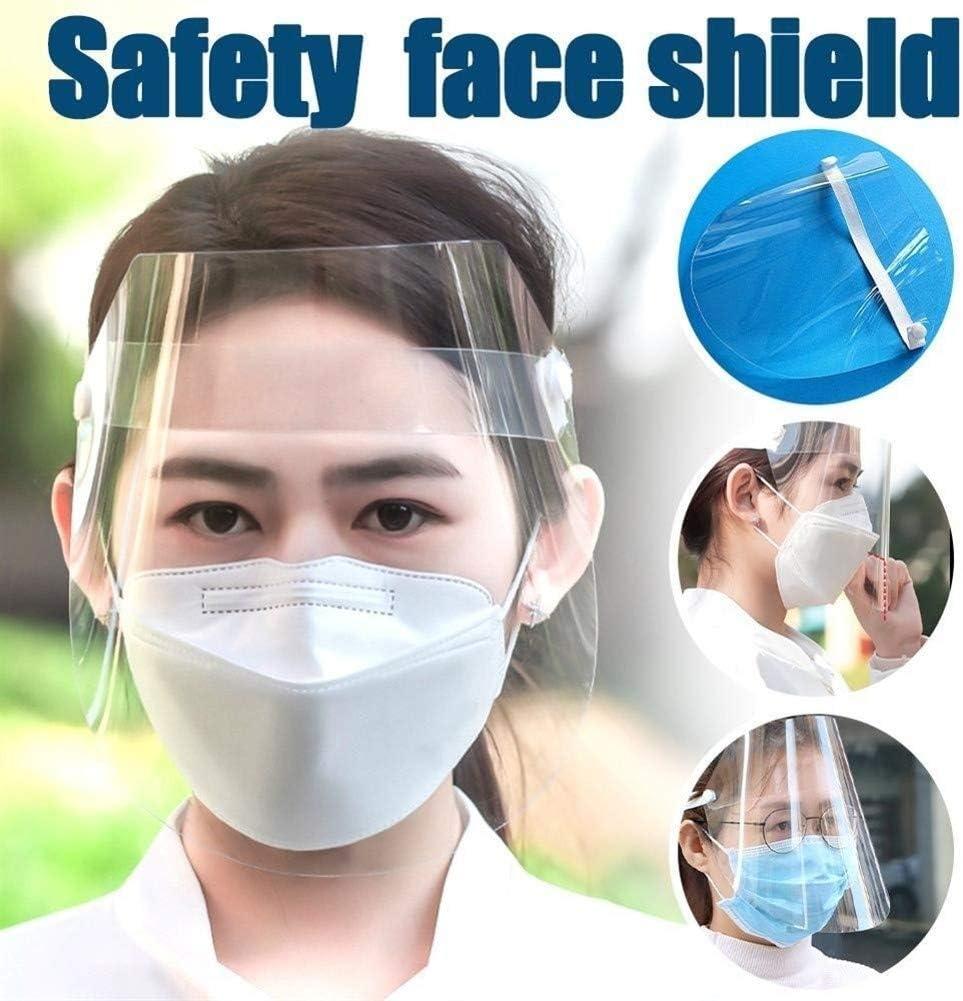 Color : Clear les yeux les femmes les enfants la protection du visage Convient pour les hommes et les femmes Protection de s/écurit/é Bouclier transparent /écran r/églable for les hommes