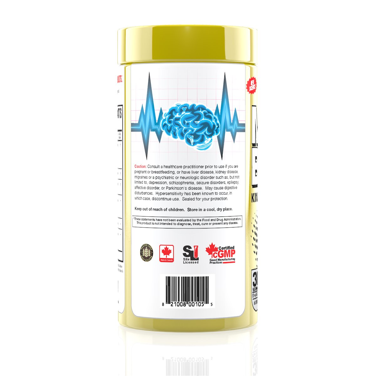 Magnum Nutraceuticals Mane Brain – 60 Capsules – Nootropic Supplement – Maximize Focus – Improve Memory – Better Mood