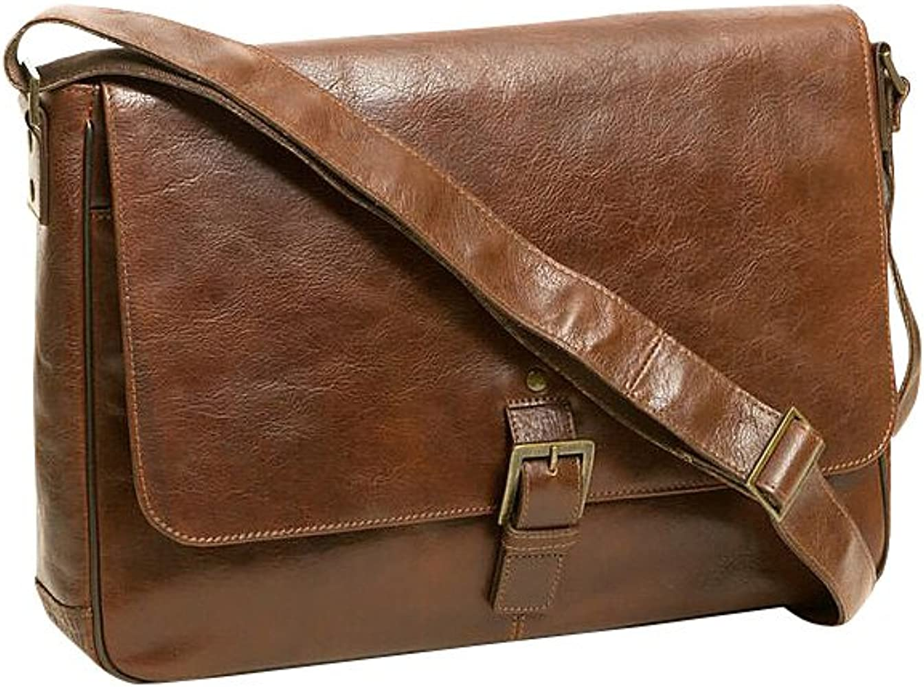 FeliciaJuan Mens and Womens Leather Business Briefcase 15.6-inch Laptop Notebook Messenger Bag Shoulder Messenger Bag