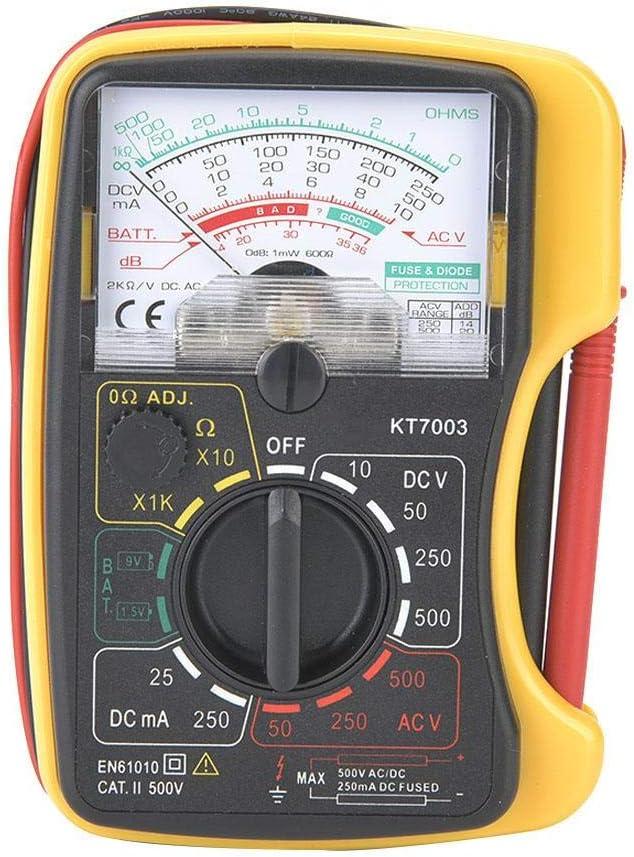Multim/ètre analogique portatif de pr/écision /élev/ée de sensibilit/é /élev/ée de Zerone KT7003 portable