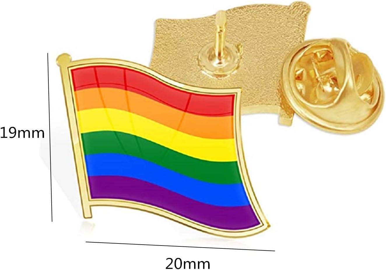 TANG SONG 20PCS Pride Pin Rainbow Gay Pride Flag LGBT Enamel Lapel Pin Pin Decoration for Clothes and Bags