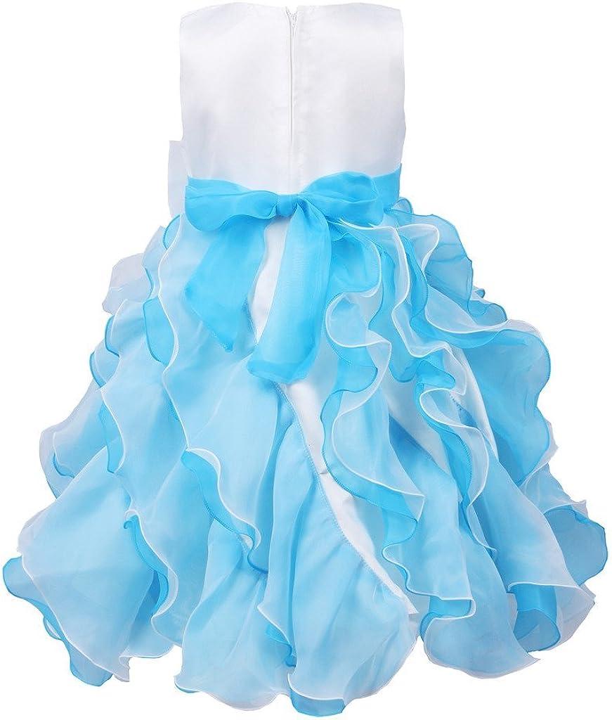 JerrisApparel Formal chorrera Vestido Ni/ñas Princesa Disfraz Vestido de Fiesta