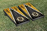 Boston Bruins Regulation Cornhole Game Set Weathered Triangle Version