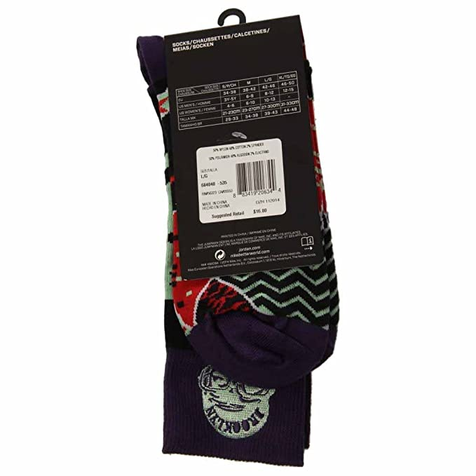 Amazon.com : Nike Jordan MARS Crew Socks Ink/Black 684040-535 (Medium 6-8) : Sports & Outdoors
