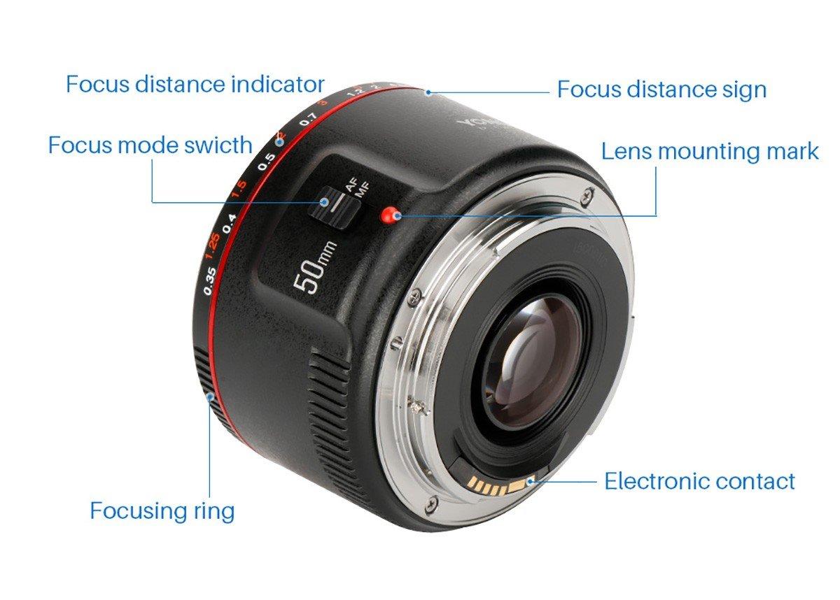 Yongnuo Yn50mm F18 Ii Large Aperture Auto Focus Lens Fix For Canon 50mm Small With Super Bokeh Effect Eos 70d 5d2 5d3 600d Dslr Camera W Eachshot