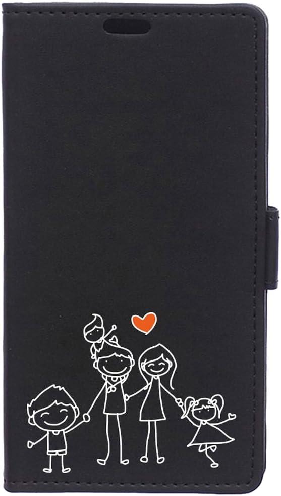 BeCool Funda Libro para Motorola Moto E4 Plus- Carcasa con función Soporte, Ranuras para tarjetes y Billetes, Diseño Amor de la Familia: Amazon.es: Electrónica