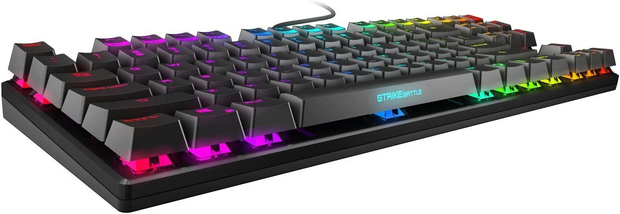 Ozone Strike Battle Spectra USB QWERTY English Black – Keyboard – (USB, Games, Mechanical Key Switch, QWERTY, English, Cable)