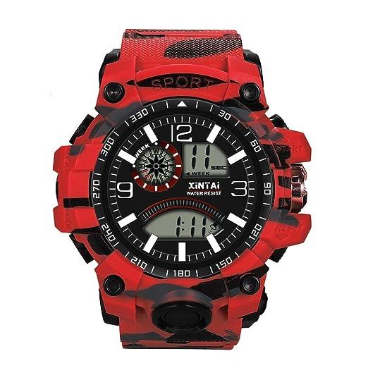 POJIETT Relojes Deportivos Impermeable Hombre Mujer Marca Correa de Plástico Reloj Digital Militar Sport Reloj Pulsera de Cuarzo Analogico de Moda Watches ...