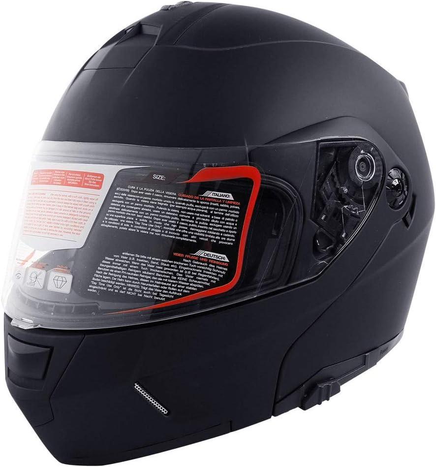 M TCMT DOT Dual Visor Flip Up Motorcycle Helmet Motocross Full Face Street Bike