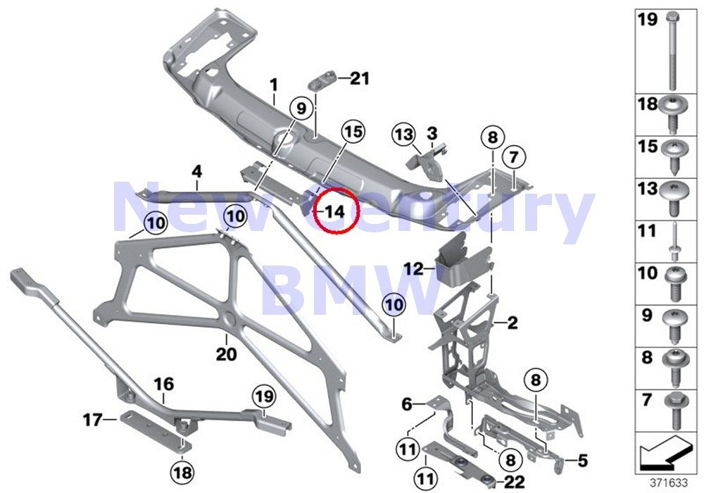 Amazon Com Bmw Genuine Front Panel Front End Support 228i 228ix
