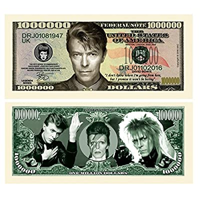 American Art Classics Limited Edition David Bowie Million Dollar Bill Fantasy Novelty Note: Toys & Games