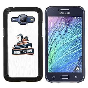 Caucho caso de Shell duro de la cubierta de accesorios de protección BY RAYDREAMMM - Samsung Galaxy J1 J100 - huntington buque
