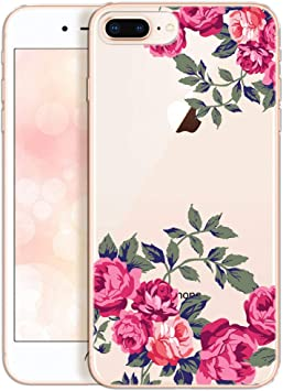 coque iphone 7 plus silicone fleur