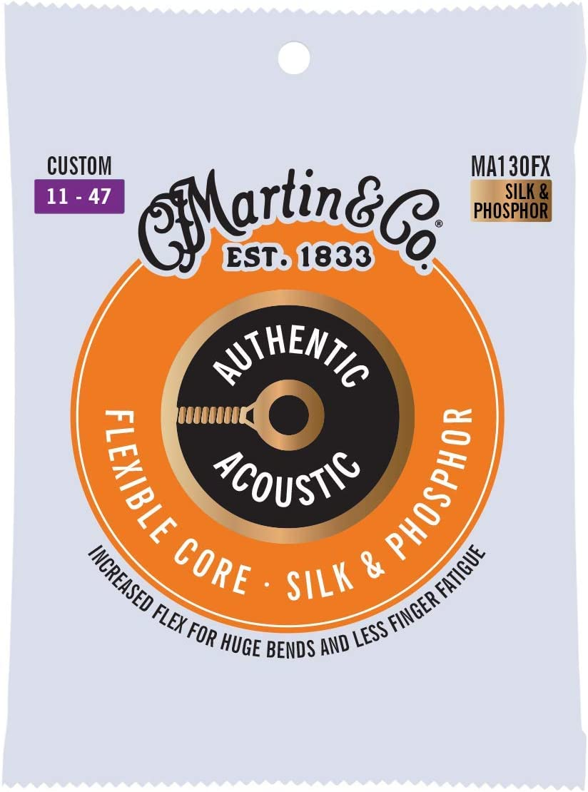 Martin MA130FX Strings SP Flexible Core – seda y fósforo personalizado (11 – 47)