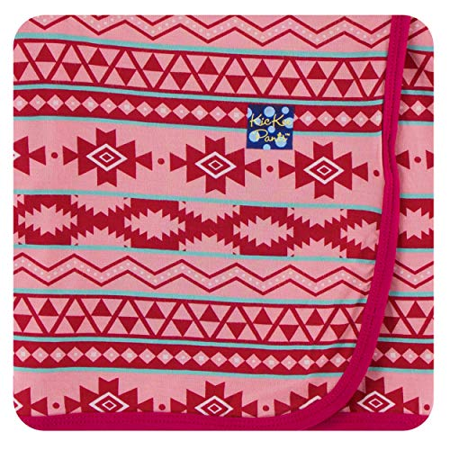 Kickee Pants Cancun Print Swaddling Blanket - Strawberry Mayan Pattern