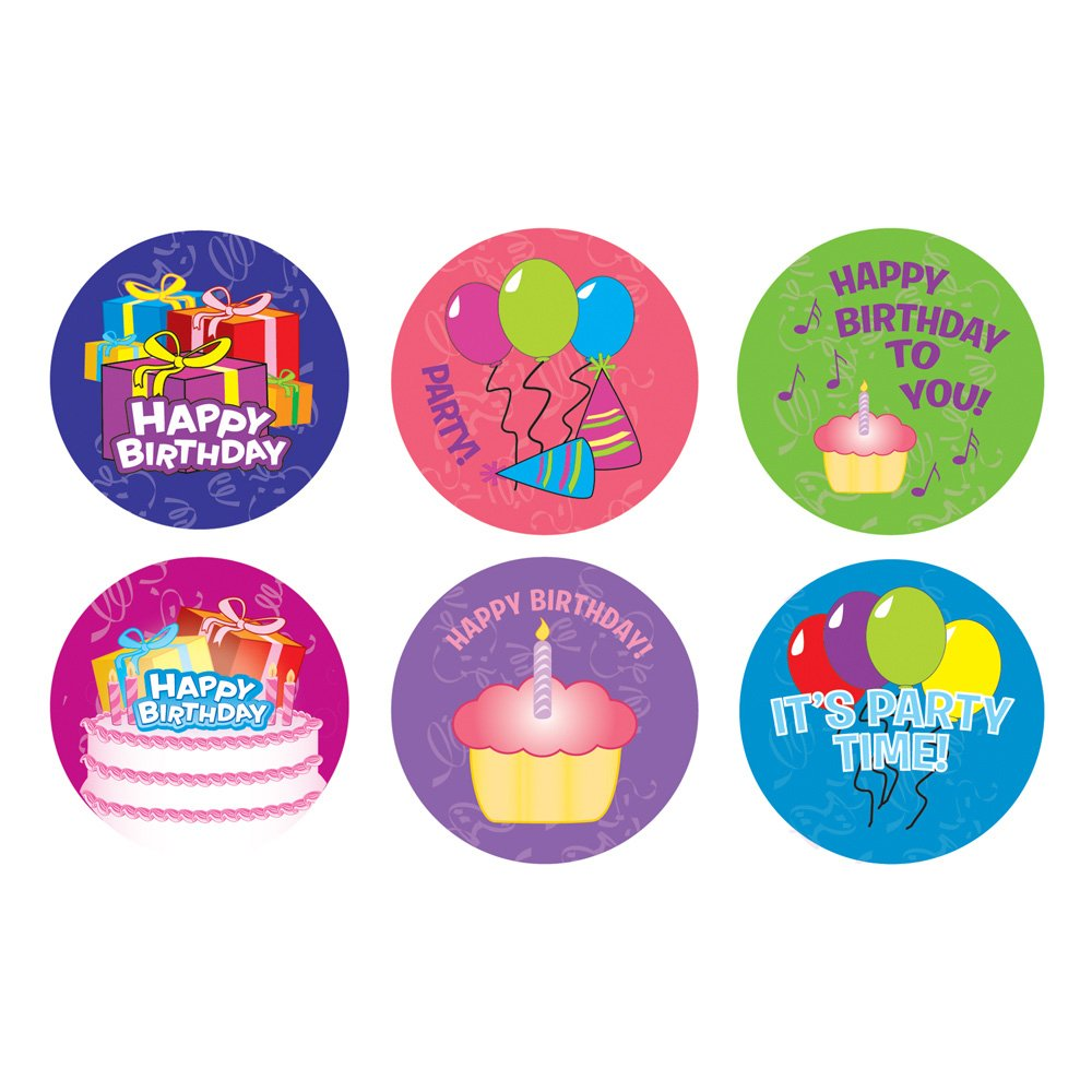 Happy birthday sticker roll 100 stickers