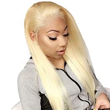 Amazon.com   613 Blonde Full 360 Lace Frontal Wig for Women Brazilian Lace  Front Human Hair Wigs Pre Plucked with Baby Hair   Beauty a2e40e03a6