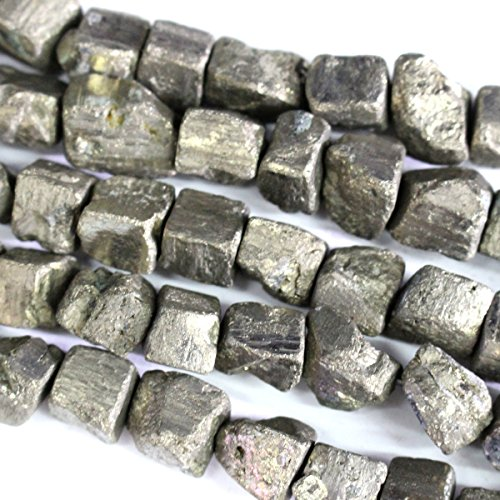 Natural Pyrite Nuggets Cube 10-12mm Gemstone Jewelry Making Loose Beads (Rough Natual Color)