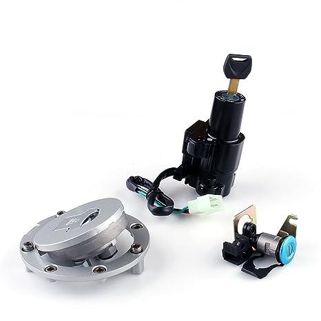 Areyourshop Ignition Switch Lock & Fuel Gas Cap Key Set for Honda CBR 250  400 600 954 Cb St VFR