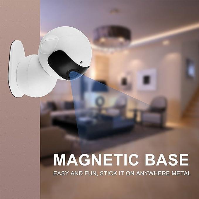 EsiCam robot Cámara inalámbrico para el teléfono inteligente HD audio de dos vías de la visión nocturna de alarma Grabación con montaje magnético ventosa ...
