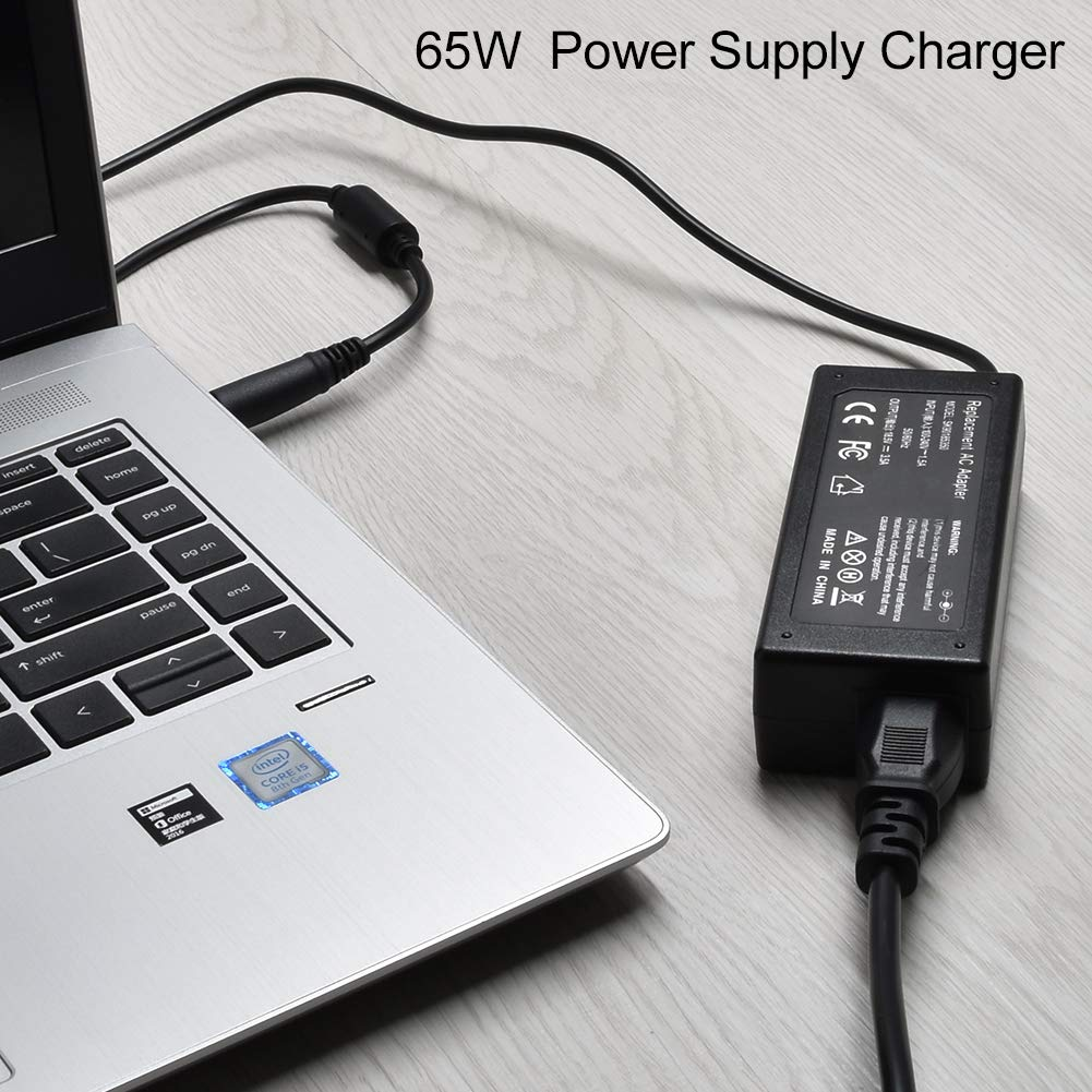 Tinkon 65W Adapter Charger Power Cord for HP 2000-2b19WM 2000-2b29WM 2000-2d11DX Compaq Presario CQ57 CQ50 EliteBook 2540p 2560p 2570p HP 2000 ...