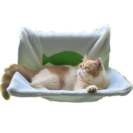 Immoch Cesta de forro polar suave y cálida para gato o perro, para mascota,