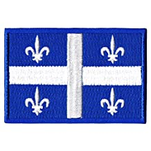 Quebec QC Provincial Flag Canada Morale Embroidered Patch Tactical Iron On and Sew On Patches Canadian Emblem for Travel Backpack, Hats, Jackets, Team Uniform and many more (1x Quebec)