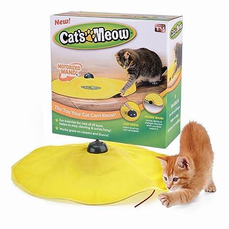 Mixse del Gato Meow encubierto ratón Interactive Juguete para Interior Gatos Gato Accesorios