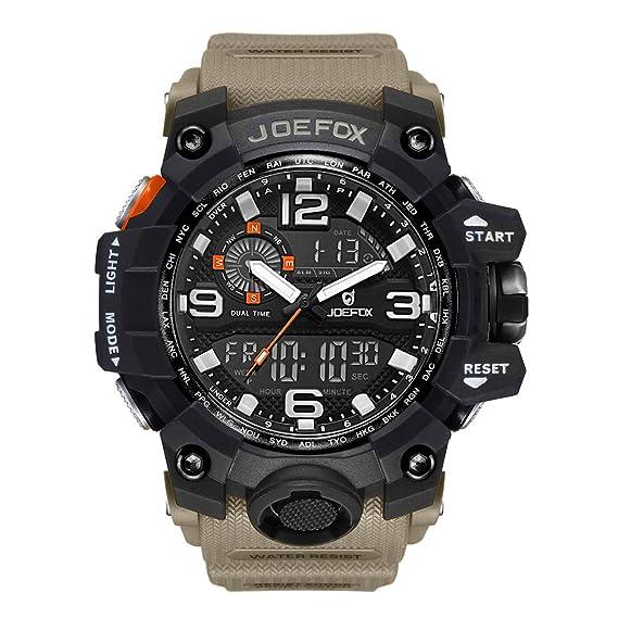 Reloj Militar para Hombre, Reloj táctico Militar Digital para Hombre, Doble Pantalla automática,