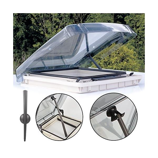 61ftNp3yytL Dachfenster Remis Remitop Vista 40 x 40 cm Klar + Dekalin Dichmittel für Wohnwagen oder Wohnmobil