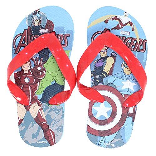 Tongs claquettes plage garçon motif Marvel Avengers