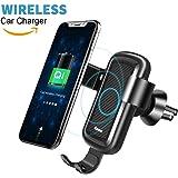 Caricabatteria Wireless Auto Culla Supporto, Baseus 10W Qi Caricatore Wireless Auto con Supporto Telefono par Samsung Galaxy Note 8/S9/S8/S7/S6 Edge+/Note 5, Standard Charging per iPhone X/8/8 Plus